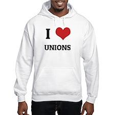 I Love Unions Jumper Hoody