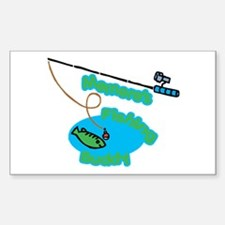 Memere's Fishing Buddy Rectangle Decal