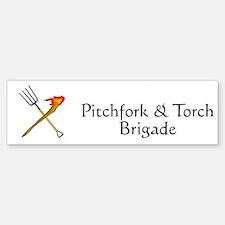 Pitchfork and Torch Bumper Bumper Bumper Sticker
