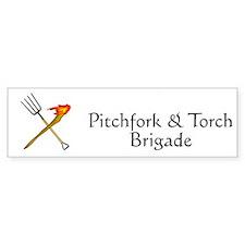 Pitchfork and Torch Bumper Bumper Sticker