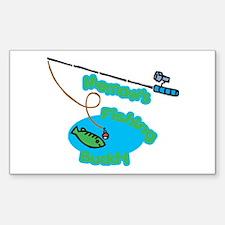 Memaw's Fishing Buddy Rectangle Decal