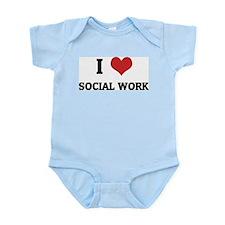 I Love Social Work Infant Creeper