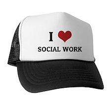 I Love Social Work Trucker Hat