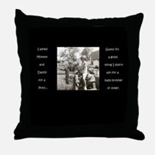 'I asked for a pony' Throw Pillow