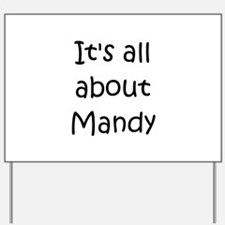 Unique Mandy Yard Sign