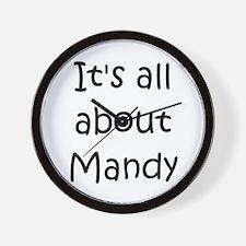Funny Mandy Wall Clock
