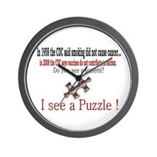 I see a PUZZLE CDC! Wall Clock