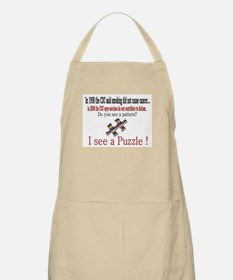 I see a PUZZLE CDC! BBQ Apron