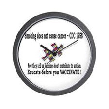Smoking does not cause Cancer Wall Clock