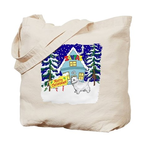 Santas Place Westie Tote Bag
