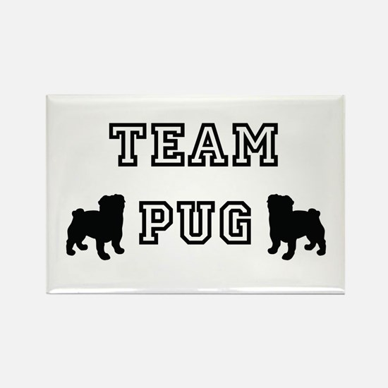 Team Pug Rectangle Magnet (100 pack)