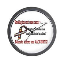 CDC Educate before you vaccin Wall Clock