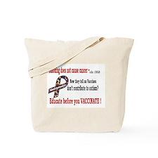 CDC Educate before you vaccin Tote Bag