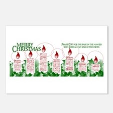 Candle Christmas Postcards (Package of 8)