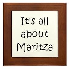 Funny Maritza Framed Tile