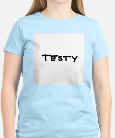 Testy Women's Pink T-Shirt