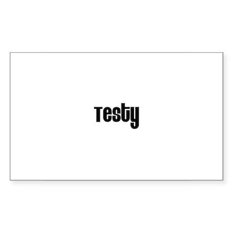 Testy Rectangle Sticker