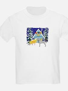 Santas Place Weimaraner T-Shirt