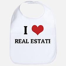 I Love Real Estate Bib