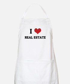 I Love Real Estate BBQ Apron