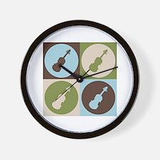 Violin Pop Art Wall Clock