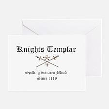 Knights Templar Spilling Sara Greeting Cards (Pk o
