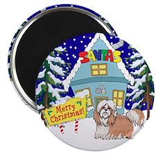 "Santas Place Shih Tzu 2.25"" Magnet (10 pack)"