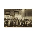 Suffragists Picket Pres Wilson Rectangle Magnet