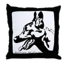 Malinois Silhouette Throw Pillow