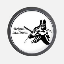 Malinois Silhouette Wall Clock