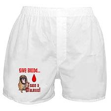 Give Blood, Tease a Malinois Boxer Shorts