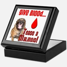 Give Blood, Tease a Malinois Keepsake Box