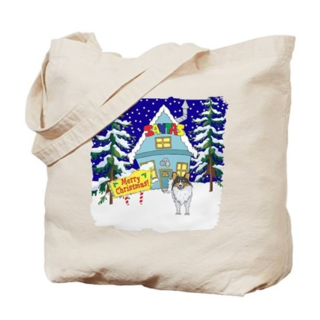 Santas Place Sheltie Tote Bag