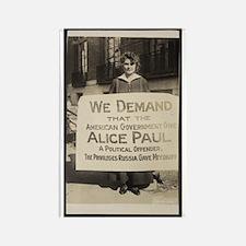 Free Alice Paul Rectangle Magnet