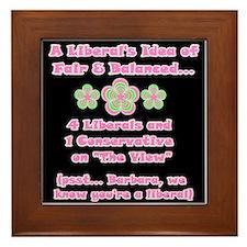Flower Power! The View Framed Tile