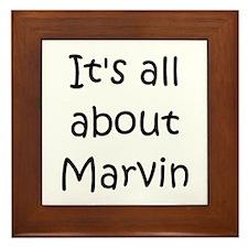 Funny Marvin Framed Tile