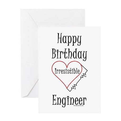 Electrical Engineer Birthday (Blank) Greeting Card
