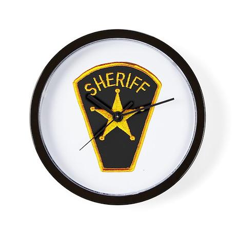 Sheriff Wall Clock