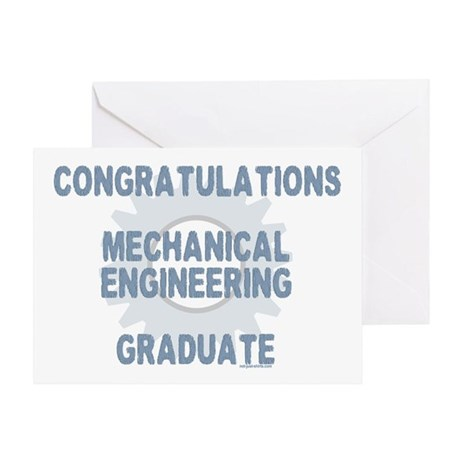Mechanical Engineer Grad Greeting Card