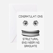 Structural Engineer Graduate (Blank) Greeting Card