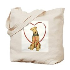 Love Your Airedale Tote Bag