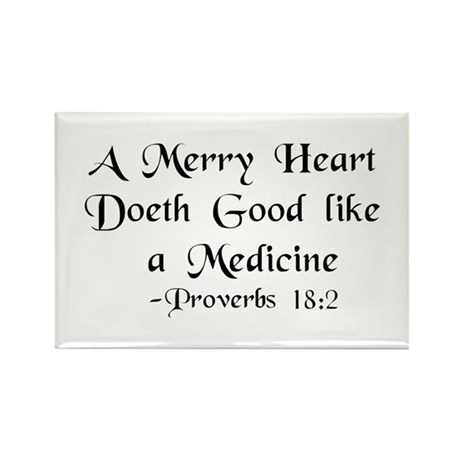 """A Merry Heart"" Rectangle Magnet (100 pack)"