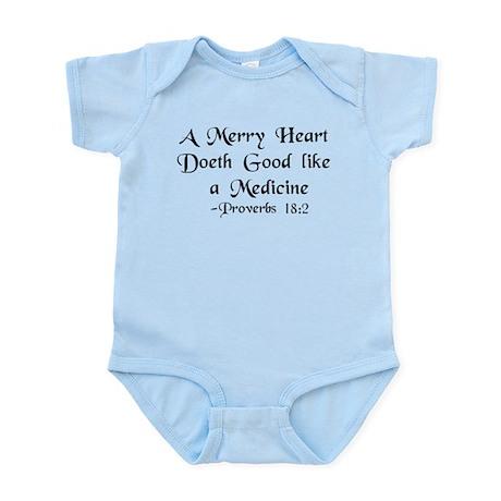 """""""A Merry Heart"""" Infant Bodysuit"""