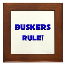 Buskers Rule! Framed Tile