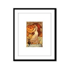 Pumpkin Head Framed Panel Print