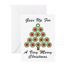 Mechanical Gear Christmas Greeting Card