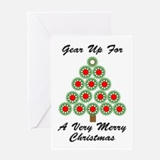 Mechanical Gear Christmas Greeting Card