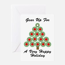 Mechanical Gear Holiday Greeting Card