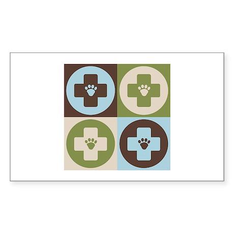Veterinary Medicine Pop Art Rectangle Sticker 10