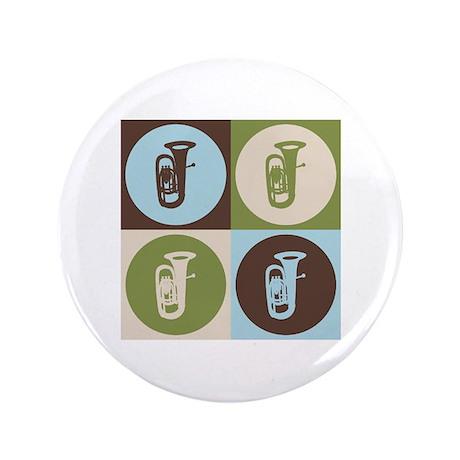 """Tuba Pop Art 3.5"""" Button (100 pack)"""